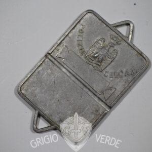 Piastrino coloniale P.A.I. Polizia Africa Italiana