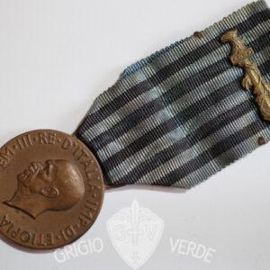 Medaglia A.O.I. Molti nemici molto onore conio Regia Zecca