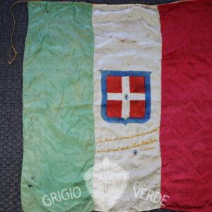 Bandiera Regno d'Italia in seta ricamata risorgimentale
