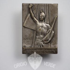 Distintivo M.V.S.N. 8° Legione Varese 1929