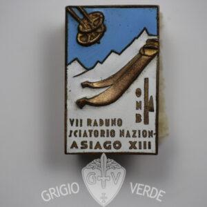 Distintivo sci VII° Raduno sciatorio nazionale Asiago XIII1935