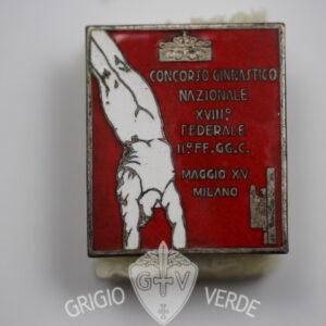 Distintivo Concorso ginnastico Milano 1937