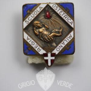 Distintivo Regia scuola ostetrica Milano