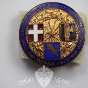 Distintivo Vigili del fuoco Pompieri Torino 1928