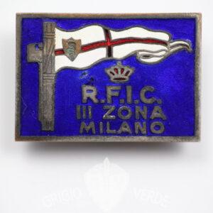 Distintivo Reale Federazione Canottaggio Milano R.F.I.C.