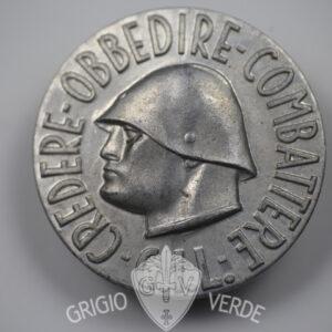 Medaglione G.I.L. Credere Obbedire Combattere in alluminio