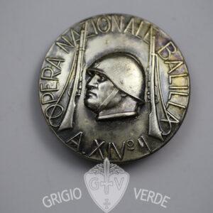 Distintivo Opera Nazionale Balilla medaglione anno XIV° 1936